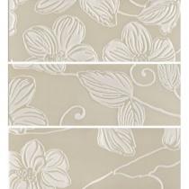 DOMINO Anya Decor Flower Beige EAY28 - Декор керамический настенный, бежевый, 20х60 см 525236