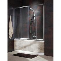 RADAWAY VESTA DWD - Душевая шторка с двустворчатой раздвижной дверью, стекло ткань, профиль хром, 150 см 203150-06