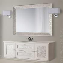 MOBILI DI CASTELLO Комплект Eros - Шкаф подвесной c умывальником и зеркалом, белый 9200S-LLBE