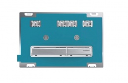 Смывная клавиша Geberit Sigma50, двойной смыв: под клиента