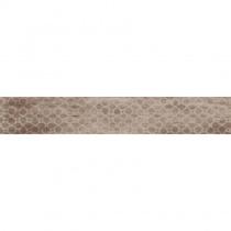 TAGINA CERAMICHE Rivamancina Cenere 63 Decori Mix - Керамогранитная плитка универсальная, коричневая, 20х120 см  344450