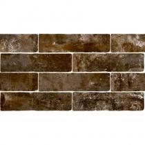 MONOPOLE Jerica Terra - Керамогранитная плитка универсальная, коричневая, 7,5x28 см 520256