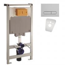 Комплект 4в1: VOLLE MASTER инсталляция с кнопкой хром 141515