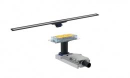 Комплект Geberit CleanLine 154.150.00.1+154.451.00.1: корпус для стяжки 90-200 мм + дренажный канал тёмный/матовый металл, L30-130см