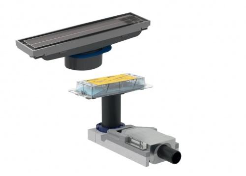 Комплект: НЧ для стяжки от 65 мм + ВЧ дренажный канал Geberit CleanLine для облицовки плиткой