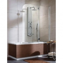 RADAWAY EOS PND R - Двухэлементная шторка для ванной правая, стекло прозрачное, 130х152 см 205202-101R