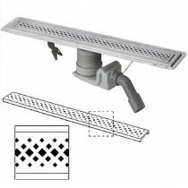 VIEGA Visign - Душевой лоток из нержавеющей стали в комплекте с дизайн-решеткой ER1, 1200 мм 619091