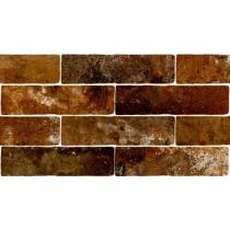 MONOPOLE Jerica Marron - Керамогранитная плитка универсальная, коричневая, 7,5x28 см 520257