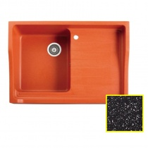 MARMORIN Rubid - Гранитная кухонная мойка, цвет черный металлик, 890x615x270 мм 230114012