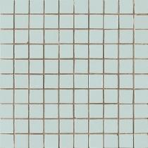AVA LA FABBRICA Lyra Mosaico Mentha Dark Satinato - Мозаика керамическая настенная, голубая, 25х25 мм 070034
