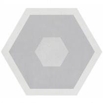 GEOTILES Starkhex Starkdec Gris - Керамогранитная плитка универсальная, серая, 25,8х29 см  360404