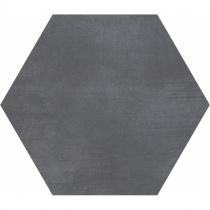 GEOTILES Starkhex Mica - Керамогранитная плитка универсальная, черная, 25,8х29 см  360384