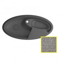 MARMORIN SILVANUS - Гранитная кухонная мойка, цвет стальной металлик, 1100х540х215 мм 500513010