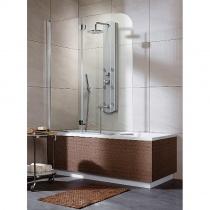 RADAWAY EOS PND L - Двухэлементная шторка для ванной левая, стекло прозрачное, 130х152 см 205202-101L