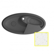 MARMORIN SILVANUS - Гранитная кухонная мойка, цвет белый, 1100х540х215 мм 500513006