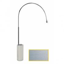 GESSI GOCCIA - Отдельно стоящий смеситель с цветной подсветкой, хром шлифованный, база из белого GRES 33712147