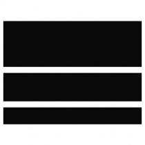 DOMINO Concept Black Gloss CC90R - Керамическая плитка настенная, черная, (20)(12,4)(7,4)х60 см 524038