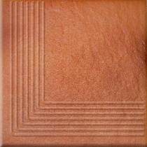 OPOCZNO Solar Orange Steptread Corner 3d - Ступень керамогранитная, наружная, коричневая, 30x30 см 301170