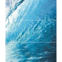 CERROL Porto Wave B Komplet - Декоративная плитка настенная, волна, 25х60 см 510639