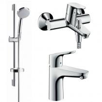 Hansgrohe Focus набор смесителей для ванны (31607000+31940000+27772000) 31940111