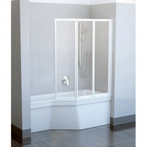 RAVAK VS3 100 - Шторка для ванны, 3-х элементная, 140х100 см VS3-100
