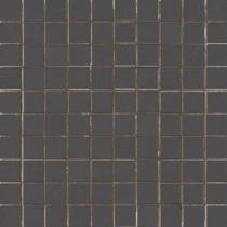 AVA LA FABBRICA Visia Mosaico Ebano Lucido - Мозаика керамическая настенная, чёрная, 25х25 см 071086