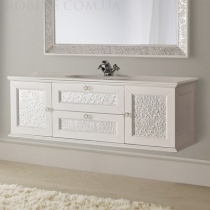 MOBILI DI CASTELLO Eros - Подвесной шкаф с умывальником, белый 9201S-LL001