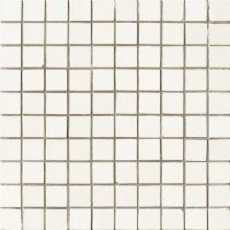 AVA LA FABBRICA Lyra Mosaico Charta Satinato - Мозаика керамическая настенная, белая, 25х25 мм 070024
