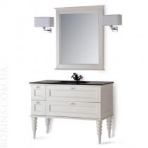 MOBILI DI CASTELLO Комплект Apollo - Шкаф напольный c умывальником и зеркалом, матовый белый потертый 9210-LGB