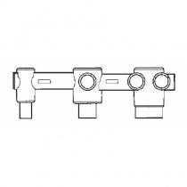 ZUCCHETTI PAN - Скрытая часть смесителя для ванны на 3 отверстия R99506