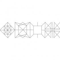 GEOTILES Chess PAWN - Керамогранитная плитка универсальная, белая, 22х85 см  338422