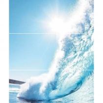 CERROL Porto Wave A Komplet - Декоративная плитка настенная, волна, 25х60 см 510638