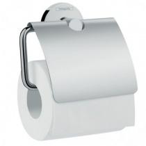 Hansgrohe Logis Держатель туалетной бумаги с крышкой, хром