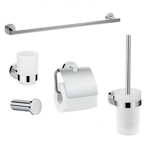 Hansgrohe LOGIS 41723222 набор аксессуаров: крючок, полотенцедержатель, держатель туалетной бумаги, стакан,туалетная щётка