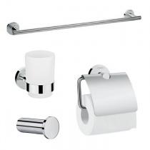Hansgrohe LOGIS 41723555 набор аксессуаров: крючок, полотенцедержатель, держатель туалетной бумаги, стакан