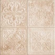 REALONDA Reims Beige Deco - Керамогранитная плитка универсальная, наружная, бежевая, 44,2x44,2 см 508745