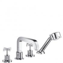 AXOR Citterio - Смеситель для ванны, на 4 отверстия, монтаж на плитку, с крестовыми рукоятками, 39453000