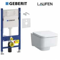 GEBERIT Инсталляция + Унитаз Laufen Pro S с крышкой soft-close 458.126.00.1-2096.1