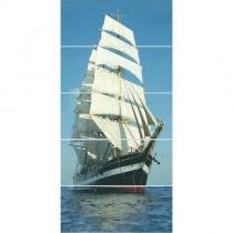 CERROL Porto Ship Komplet - Декоративная плитка настенная, корабль, 25х60 см 509594
