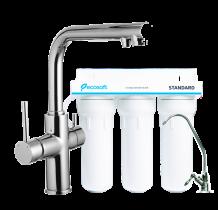 Комплект: Ecosoft Standart система очистки воды (3х ступенчатая) и IMPRESE Daicy смеситель для кухни на 2 воды 55009-F+FMV3ECOSTD