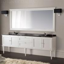 MOBILI DI CASTELLO Комплект Poseidone - Шкаф напольный c умывальником и зеркалом, матовый белый 9150-LOB