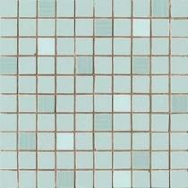 AVA LA FABBRICA Visia Mosaico Mentha Lucido - Мозаика керамическая настенная, голубая, 25х25 см 071081