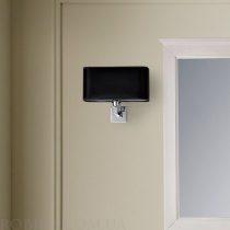 MOBILI DI CASTELLO Светильник настенный, черный, хром, 20х25х22 3561-M-CR-NEP