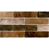 MONOPOLE Jerica Mix - Керамогранитная плитка универсальная, коричневая, 7,5x28 см 520258
