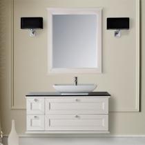 MOBILI DI CASTELLO Комплект Apollo - Шкаф подвесной c умывальником и зеркалом, матовый белый потертый 9210S001