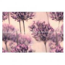 CERAMIKA COLOR Flint Dandelion Dekor - Декоративная плитка настенная, розовая, цветы, 25х75 см 5903978227231