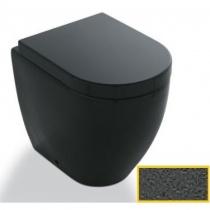 CIELO Smile Mini - Унитаз напольный с горизонтальным выпуском, цвет Antracite SMVAPRA