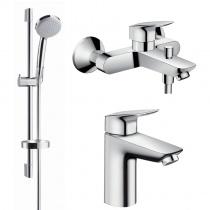 Hansgrohe Logis набор смесителей для ванны (71100000+71400000+27772000)  71400111