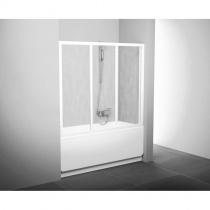 RAVAK Шторка для ванны трехэлементная AVDP3-160 см, сатин+transparent 40VS0U02Z1