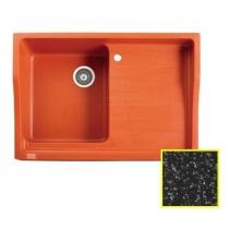 MARMORIN Rubid - Гранитная кухонная мойка, цвет черный, 890x615x270 мм 230114002